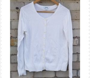 Old Navy White Button Down Cardigan